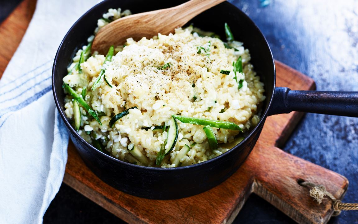 Risotto med cottage cheese