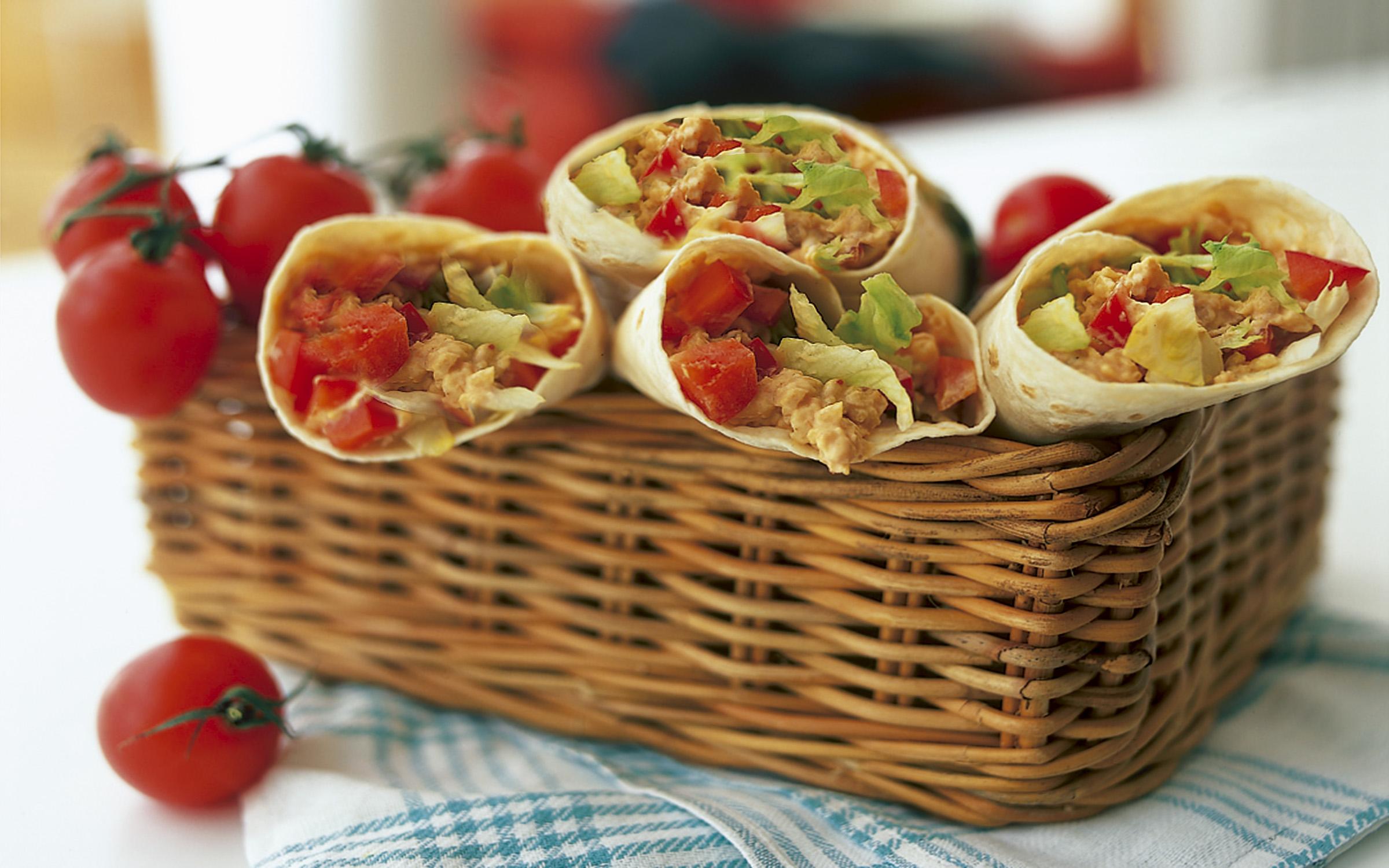 vegetarisk wrap recept