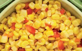 Majs med sesamolja och chili