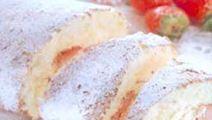 Rulltårta med apelsin och jordgubb