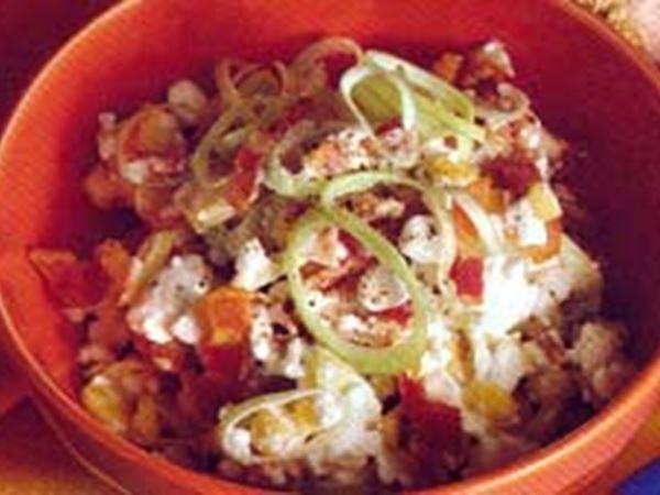 Röra med bacon och majs