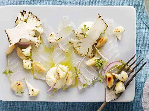 Rimmad torsk med blomkål och mandel