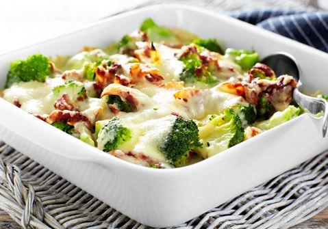 Moussaka med broccoli