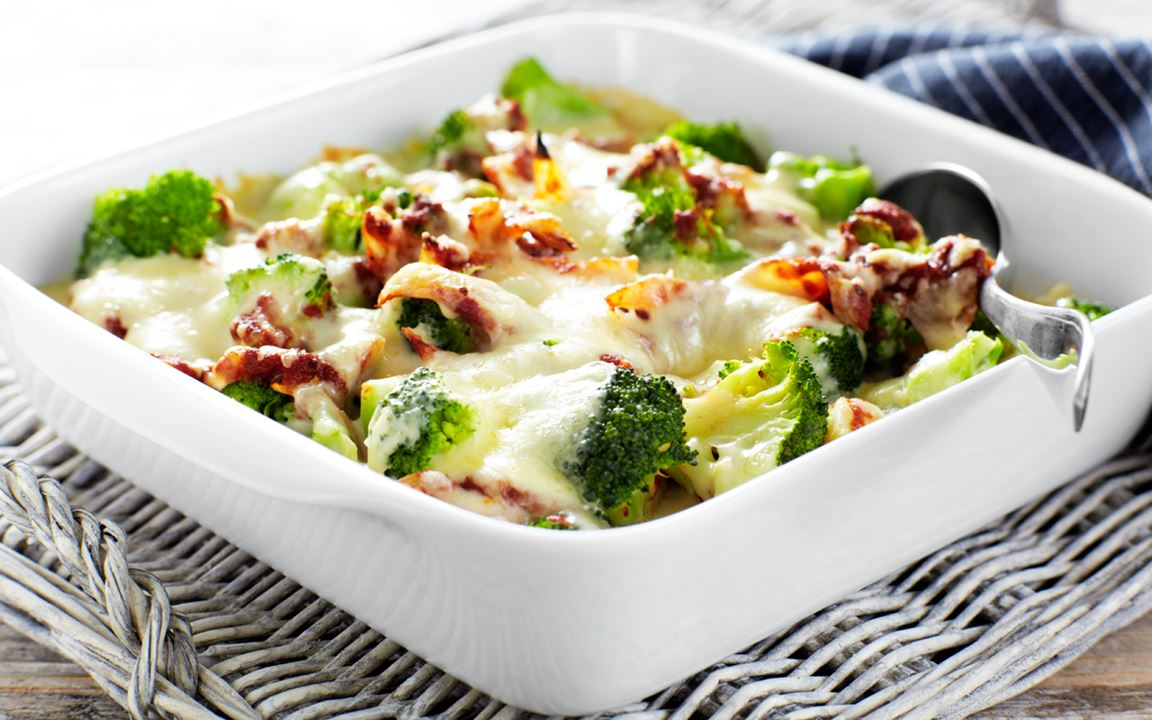 Moussaka med broccoli