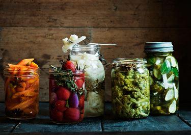 Inlagda grönsaker