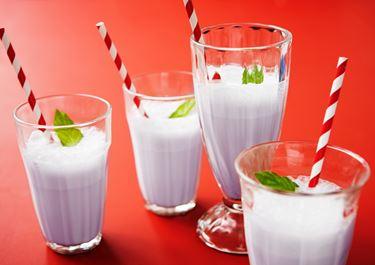 Milkshake med mynta