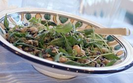 Sallad med linser och bönor