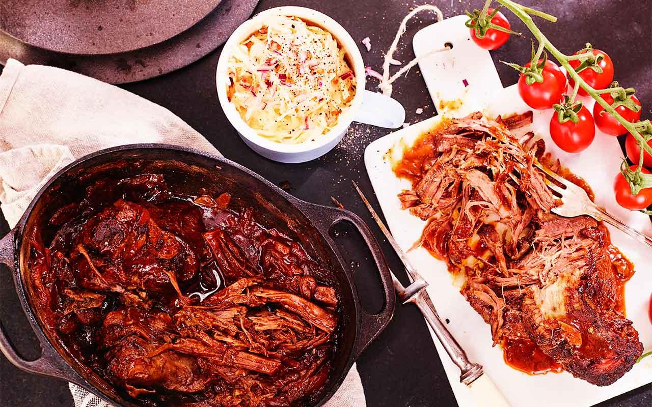 pulled pork på högrev recept