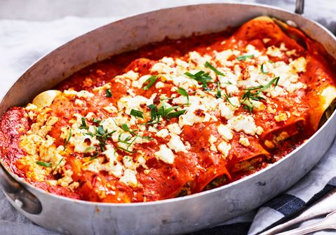 Cannelloni med vitost och spenat