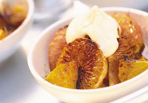 Kanelgratinerade citrusfrukter