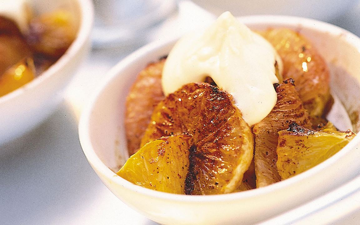 Kanelgratinerade citrusfrukter