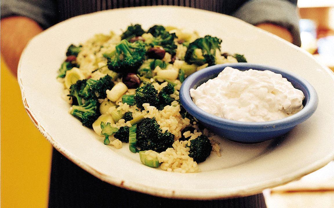 Risotto med broccoli och oströra