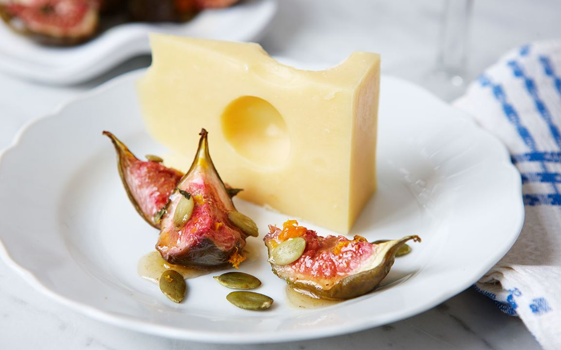 Ugnsbakade fikon med kryddhonung