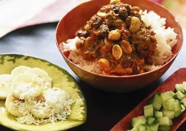 Köttfärs Bombay med jordnötter