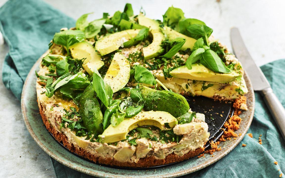 Grön potatischeesecake