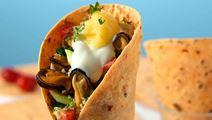 Tortilla med musslor och couscous