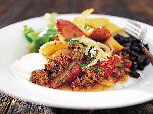 Chili med chorizo