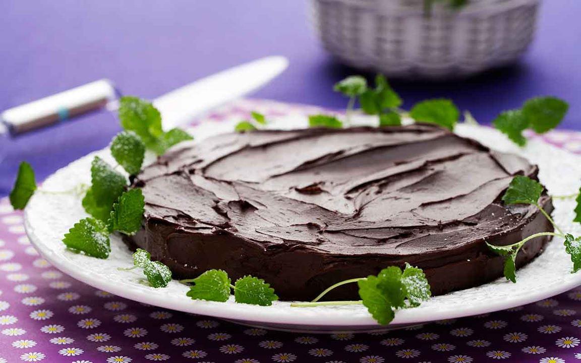 Kladdkaka med chokladkräm