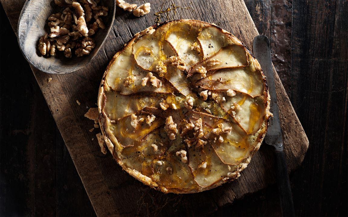 Ädelosttarte med päron