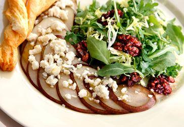 Päroncarpaccio med gorgonzola