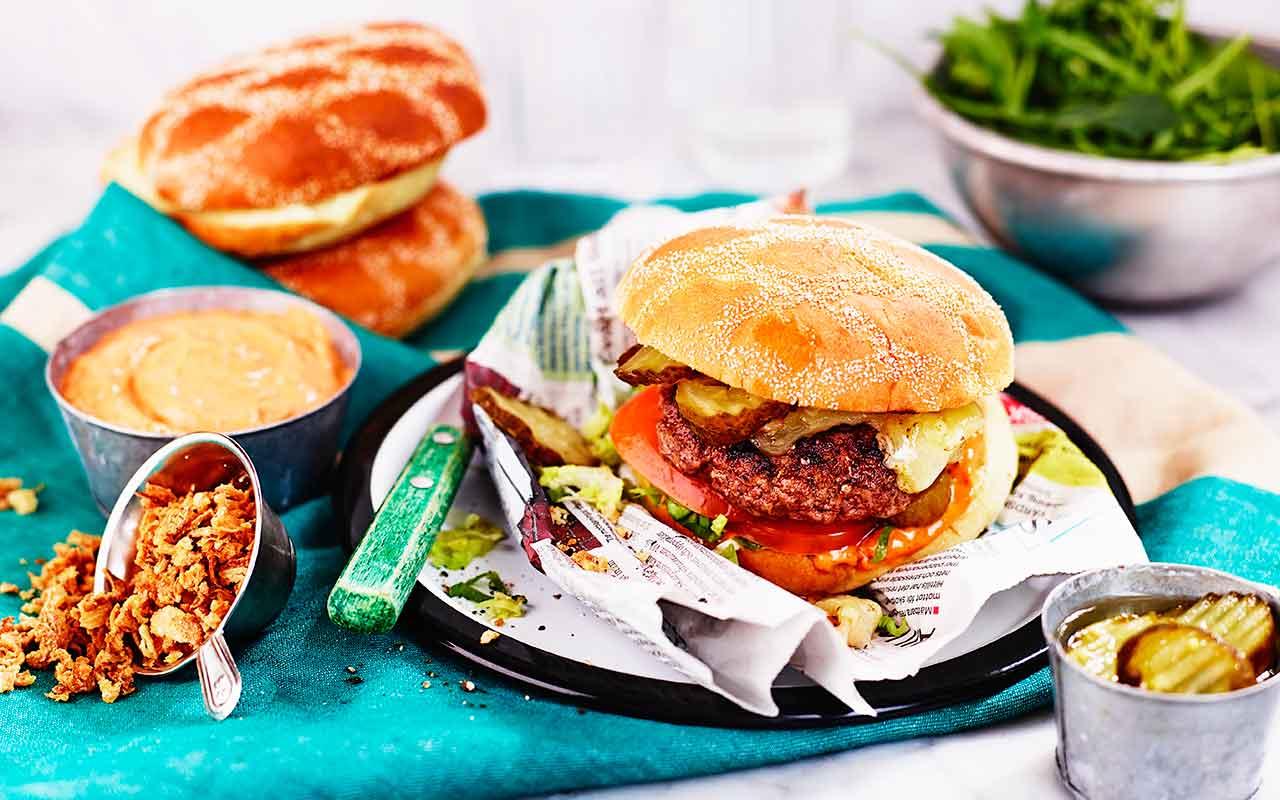 angus hamburgare recept