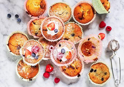 muffins med grädde