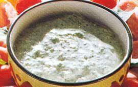 Kall sås med avokado