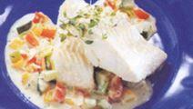 Fisk på grönsakspytt
