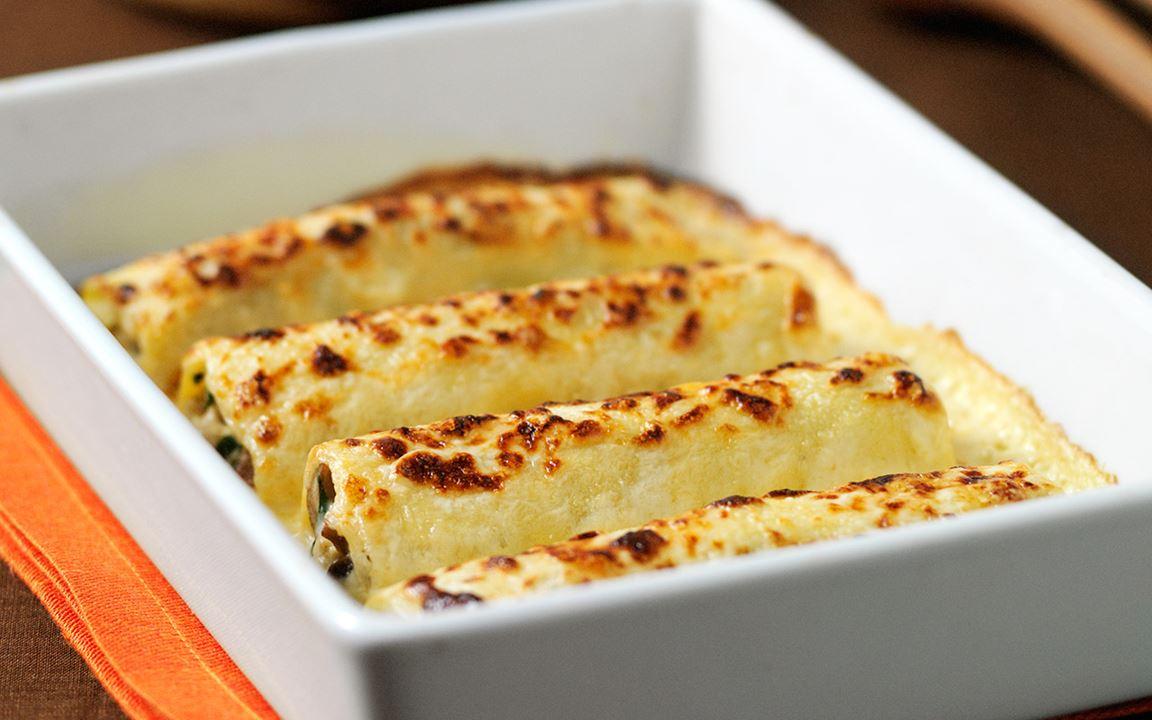 Cannelloni med kyckling och svamp