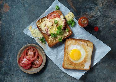 Ägg- och osttoast