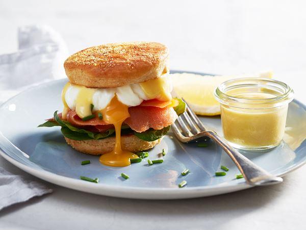 Ägg benedict med lax