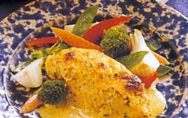 Solgul kyckling