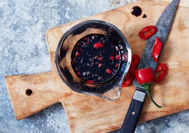 Glaze med soja, lime, chili och honung