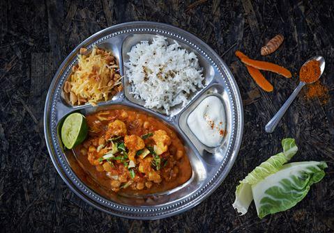 Grönsakscurry med ris