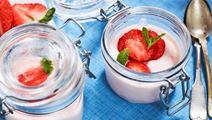 Snabbfixad jordgubbsmousse