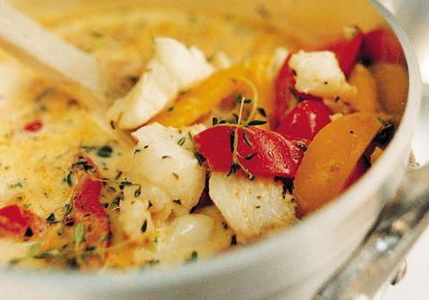 Fisksoppa med paprika