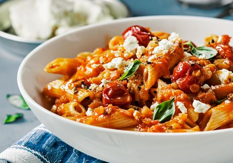 pasta m tomatsås