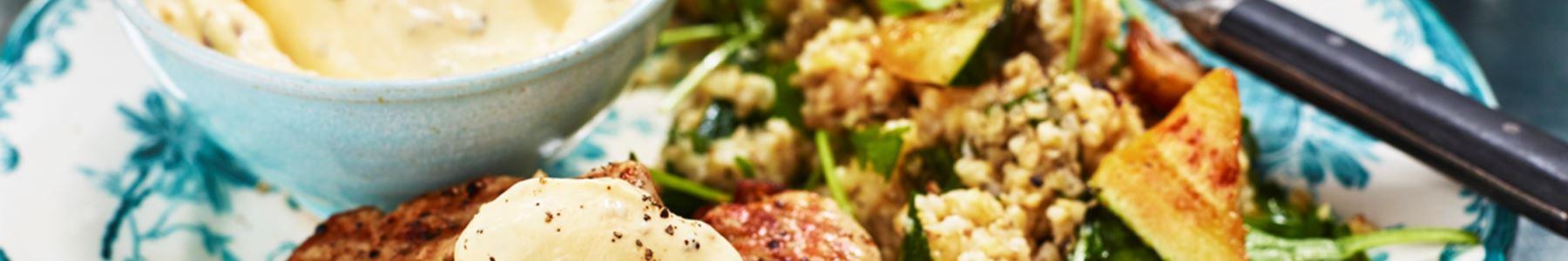 Zucchini + Champinjoner + Grillad