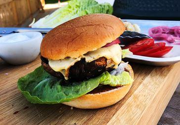 "Portabelloburgare med Castello Burger Blue – skapat av Johan ""Matgeek"" Hedberg"