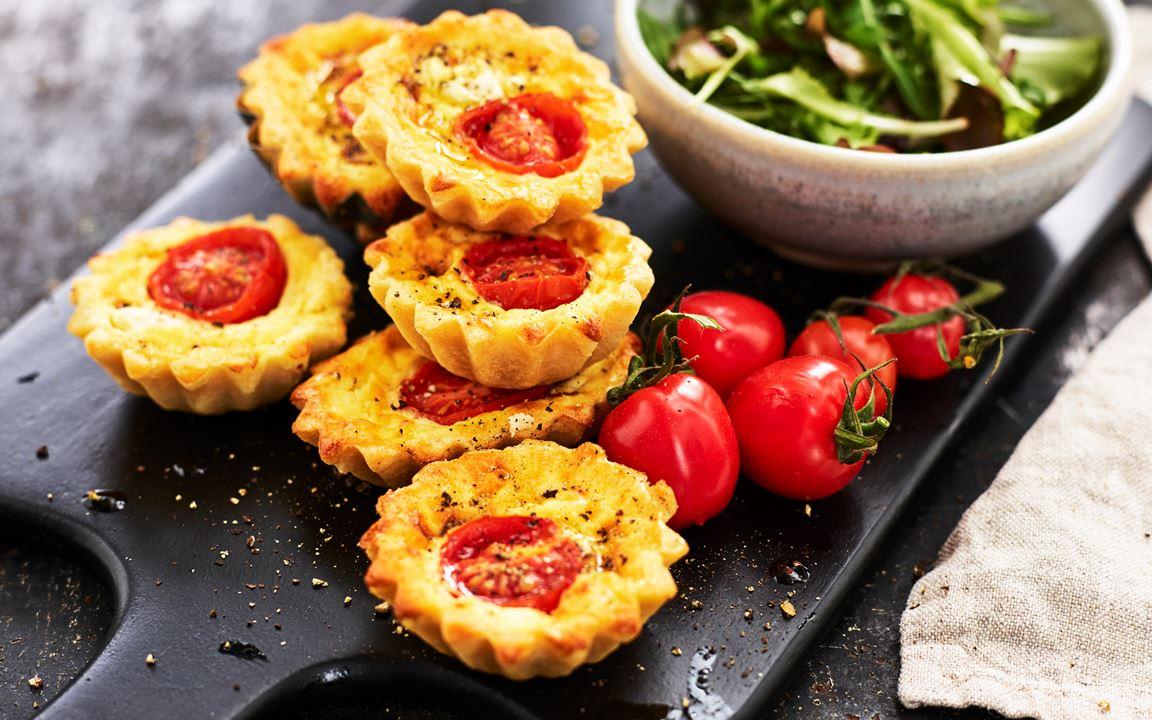 Minipajer med ost