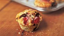 Chokladmuffins med jordgubbar