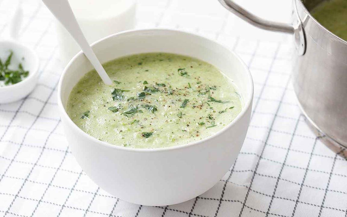 Soppa med sojabönor