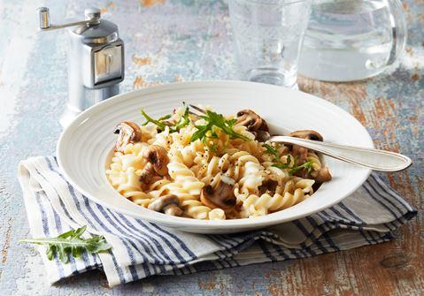 champinjonsås till pasta