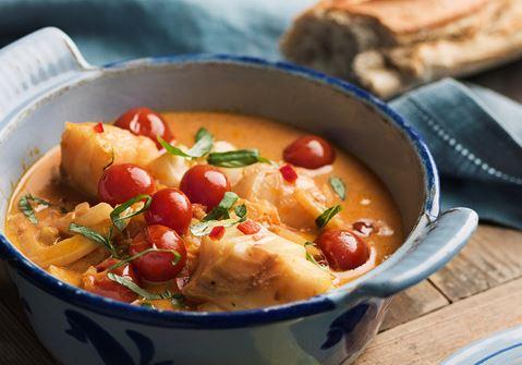 Fiskgryta med fänkål och chili