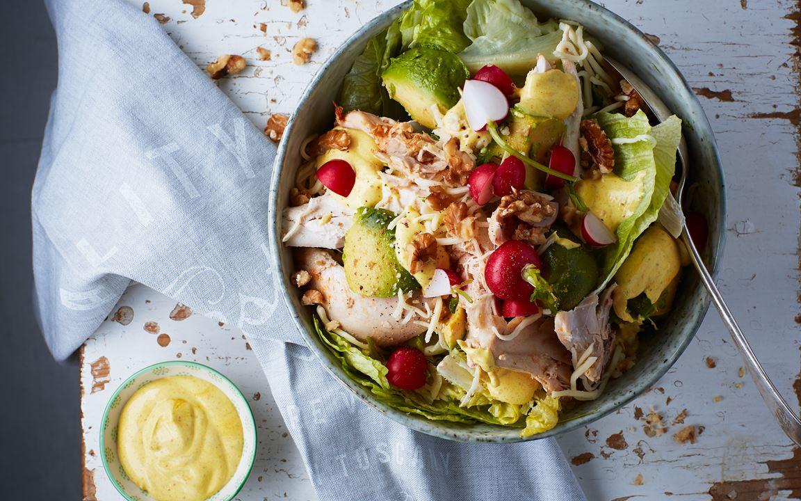 Kycklingsallad med currydressing