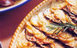 Potatisgratäng med aubergine