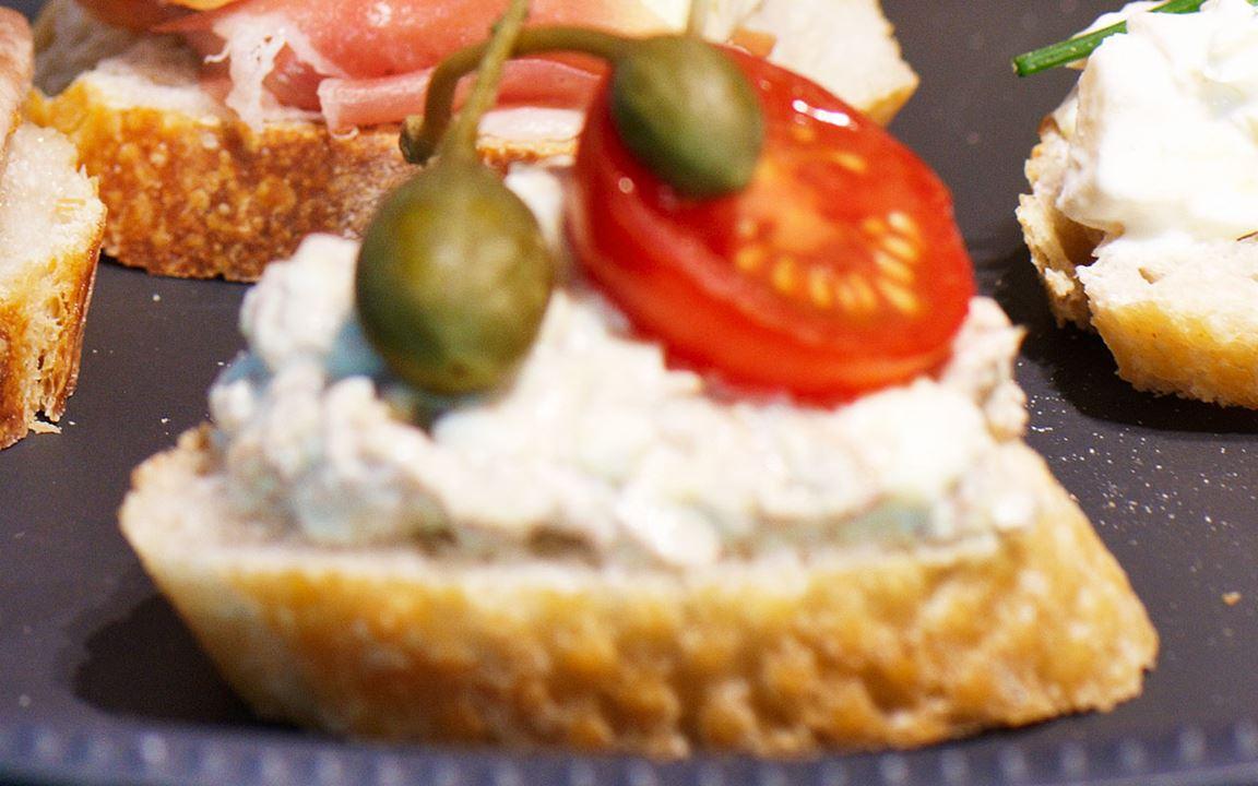 Pincho med tonfisk och ägg