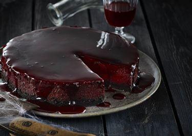 Blodig Halloweencheesecake