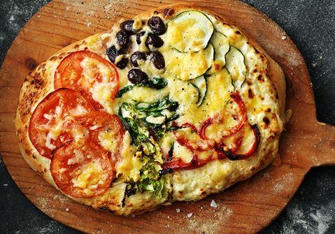 Pizza bianca vegetariana