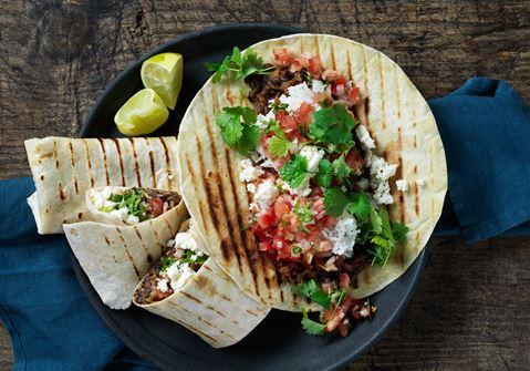 Burrito med bönor och kokosris